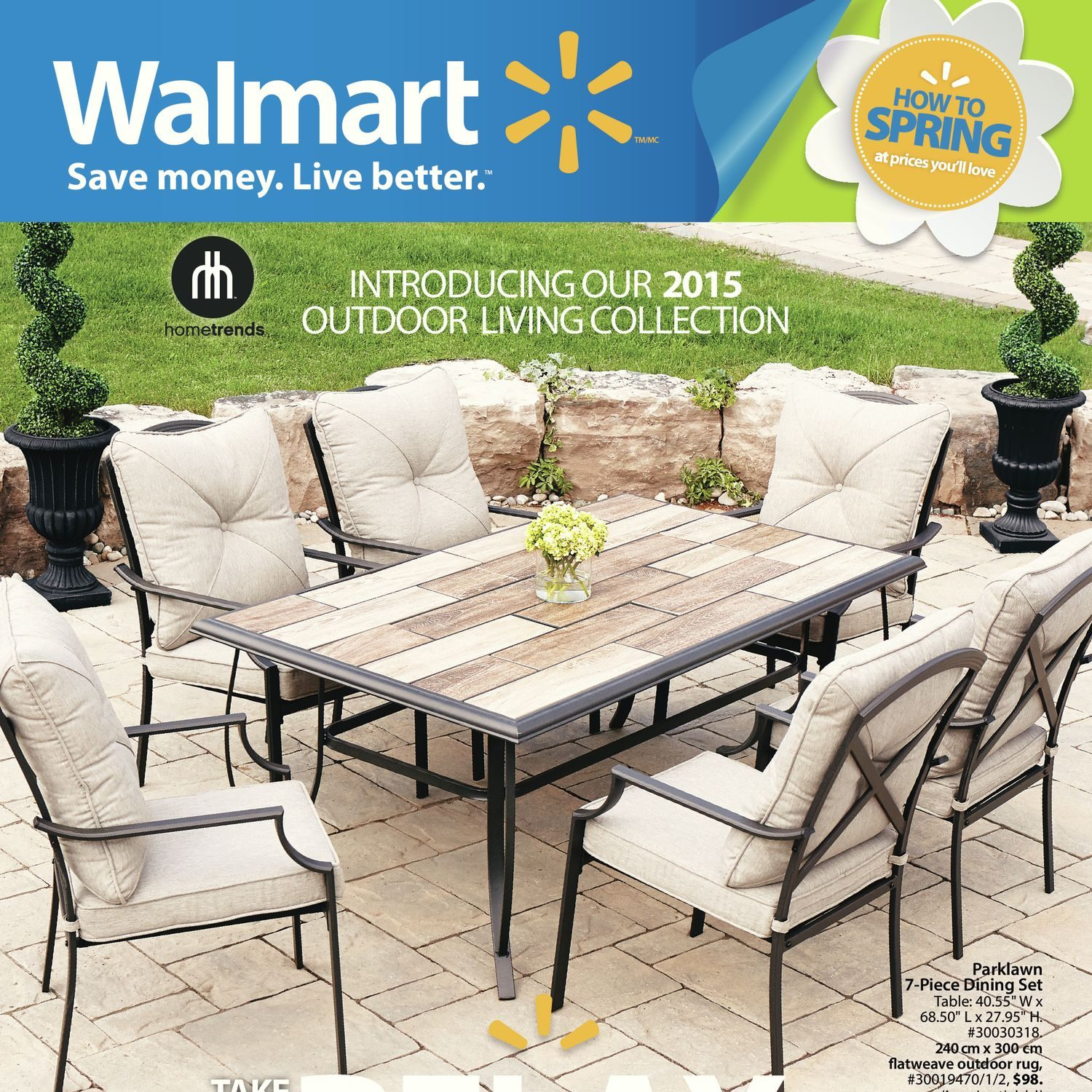 Walmart Weekly Flyer How to Spring 2015 Outdoor Living
