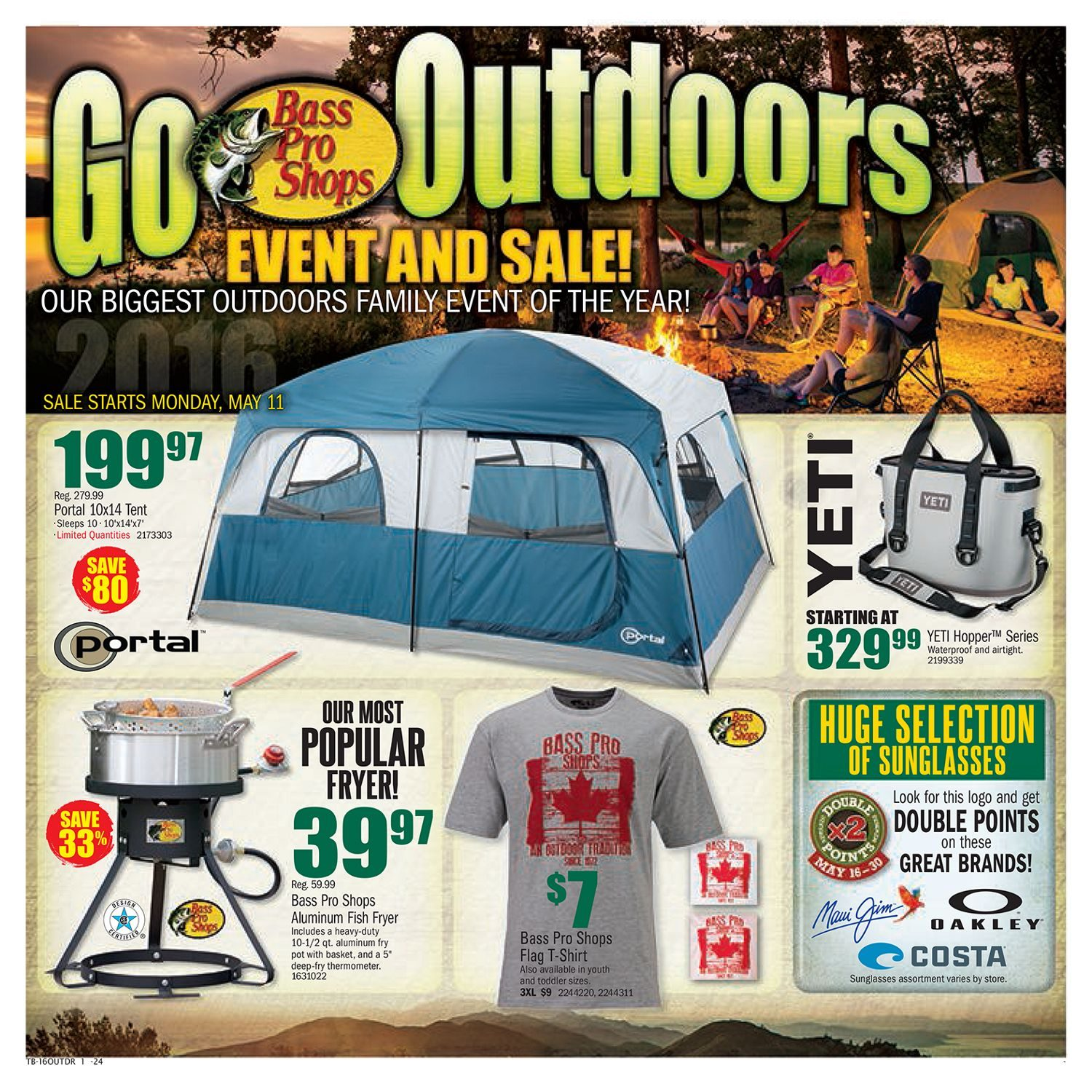 eebae3241 Bass Pro Shops Weekly Flyer - Go Outdoors Event   Sale! - May 11 – 30 -  RedFlagDeals.com
