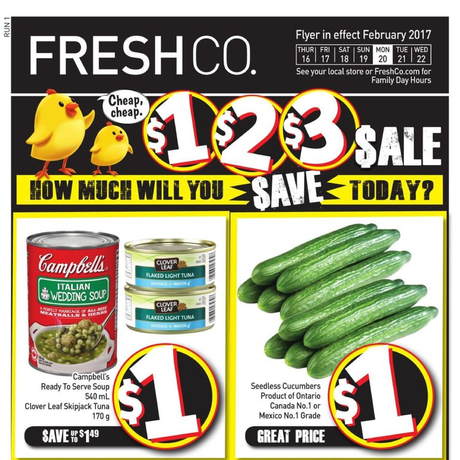 Fresh Co Weekly Flyer - Weekly - $1, $2, $3 Sale - Feb 16 – 22