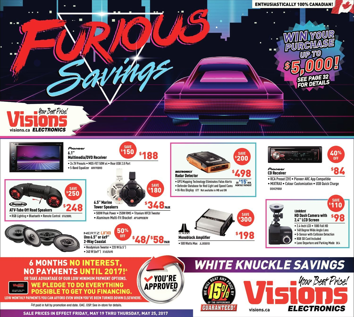 Visions Electronics Weekly Flyer Furious Savings May 19 Tweeter Vx 41 Ht 25