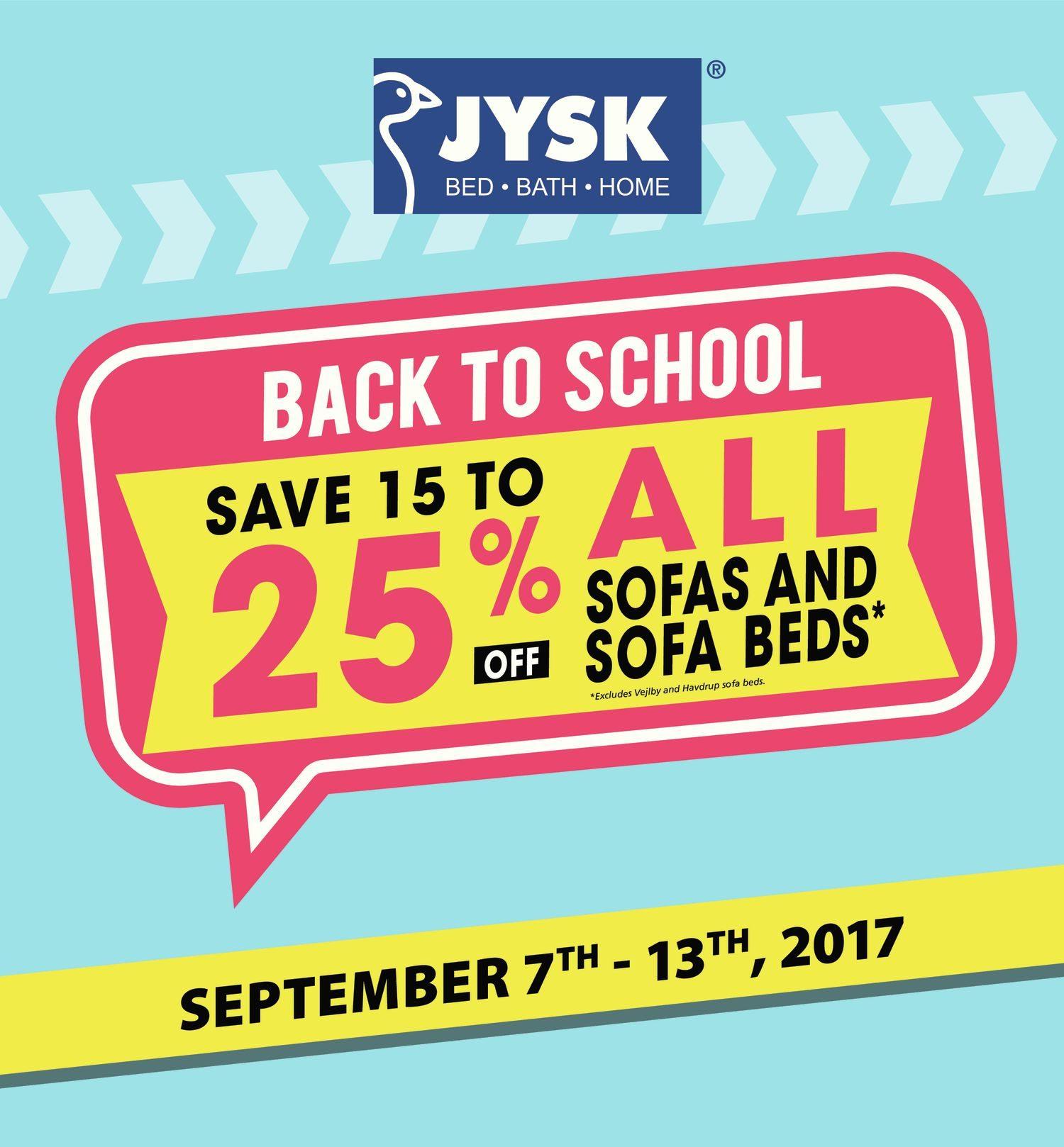 JYSK Weekly Flyer Weekly Back to School Sep 7 – 13