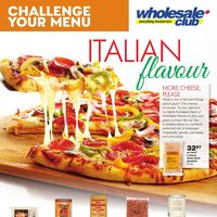 Wholesale Club - Challenge Your Menu - Italian Flavour Flyer