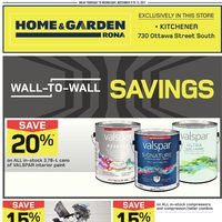 - Home & Garden - Wall-to-Wall Savings Flyer