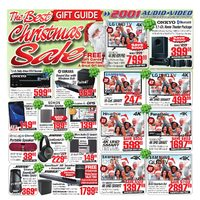 2001 Audio Video - Weekly - The Best Christmas Sale Flyer