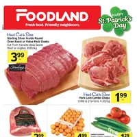 Foodland - Weekly Specials - Happy St. Patrick's Day Flyer