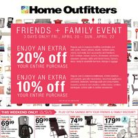 Home Outfitters - Weekly - Friends & Family Event Flyer
