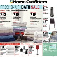 Home Outfitters - Weekly - Freshen Up! Bath Sale Flyer