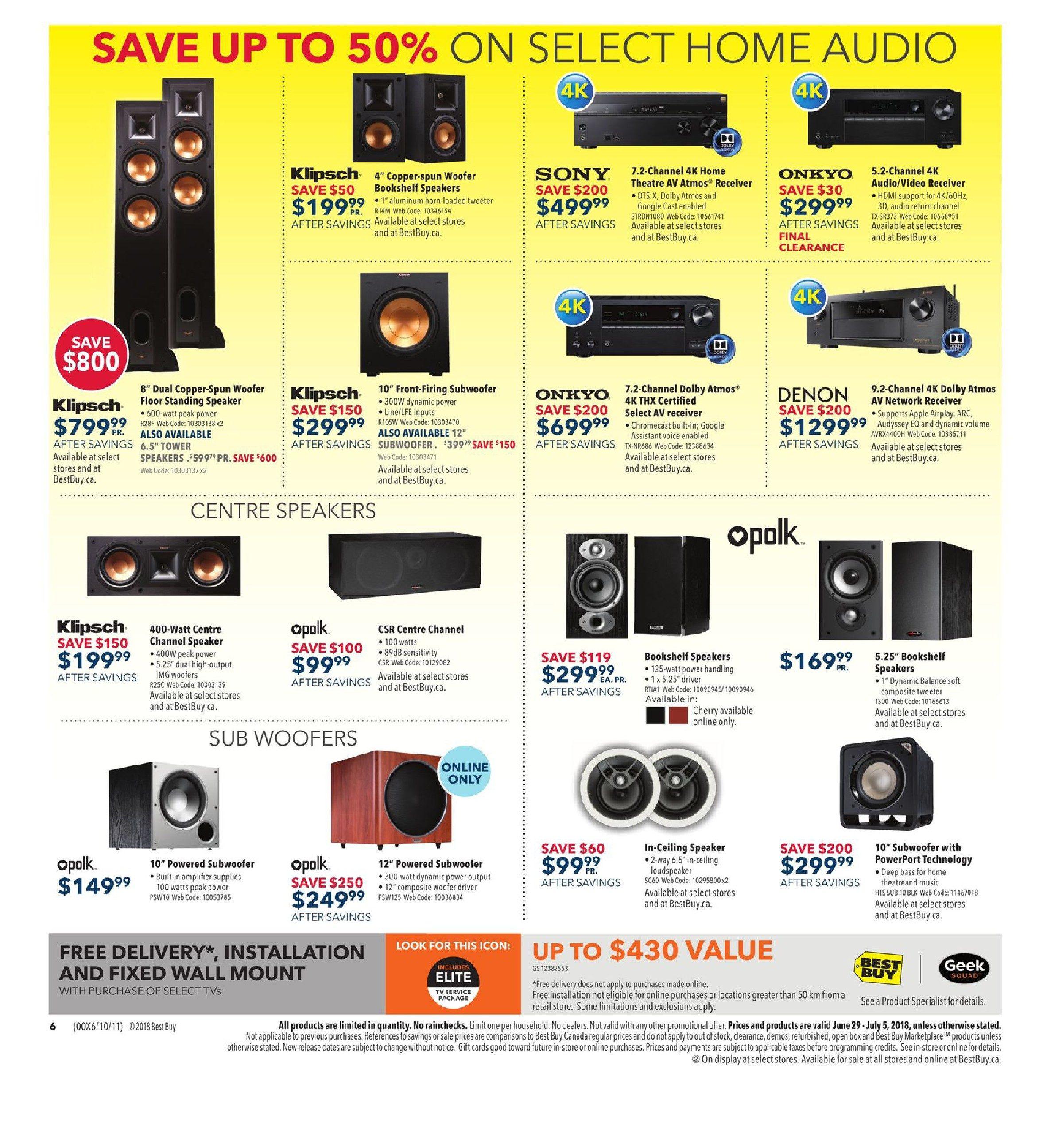 Best Buy Weekly Flyer Boxing Day In July Sale Jun 29 Kicker Car Speakers On 12 Inch Alpine Type R Wiring Diagram Jul 5