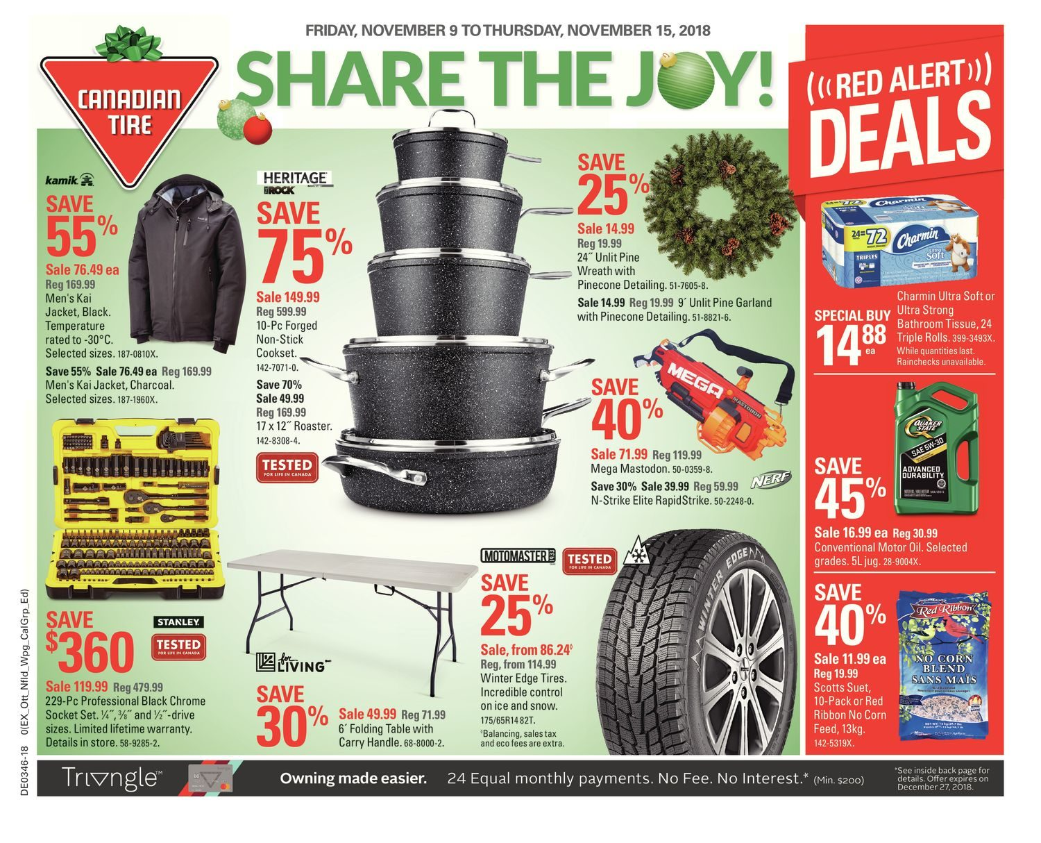 - Canadian Tire Weekly Flyer - Weekly - Share The Joy! - Nov 9 – 15