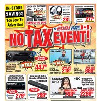 - Weekly - No Tax Event! Flyer
