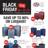 CAA Travel - Black Friday Sale Flyer