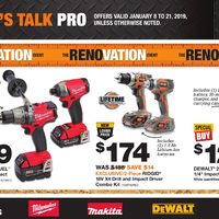 Home Depot - Let's Talk Pro - The Renovation Event Flyer