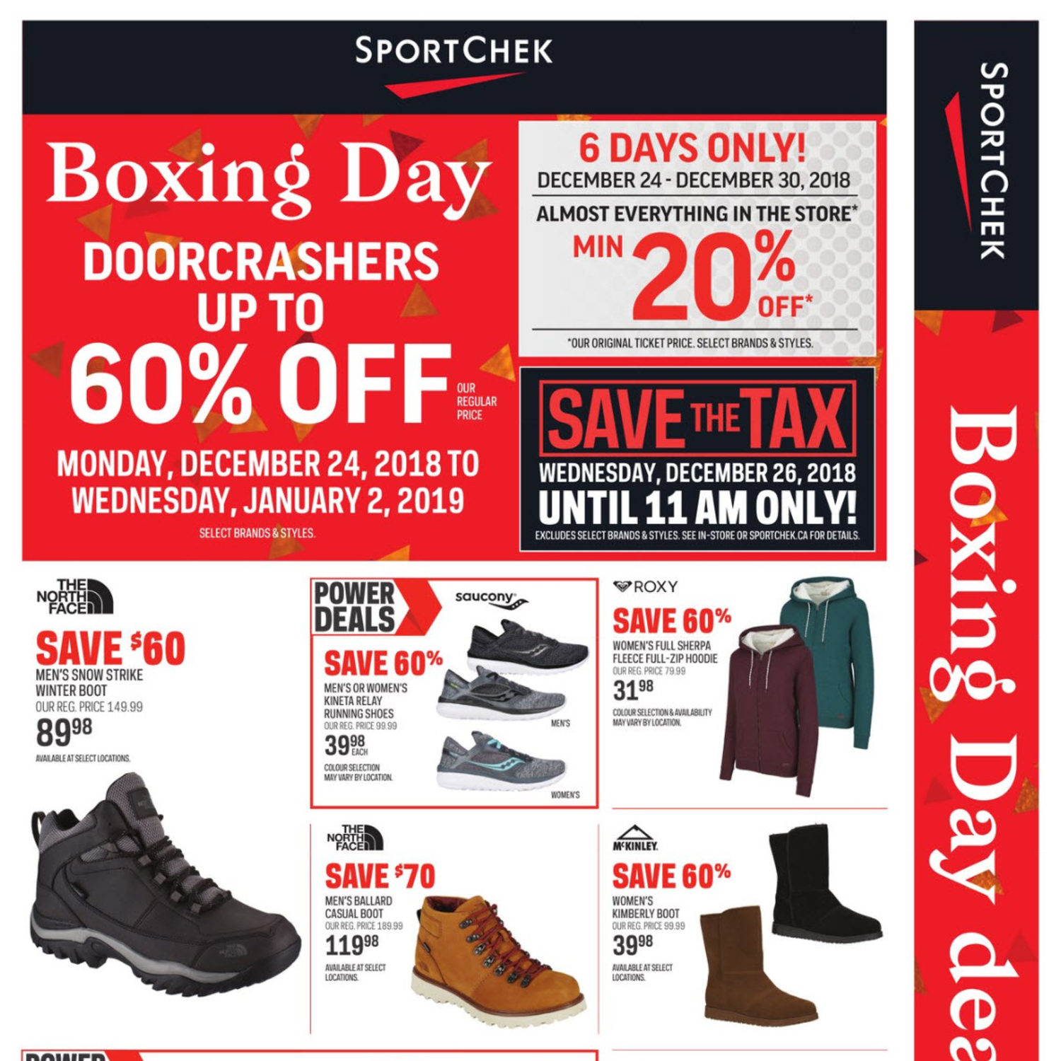 72bd275b893 Sport Chek Weekly Flyer - Boxing Day Deals Here! - Dec 24 – Jan 2 ...