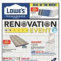 Lowe's - Weekly - Renovation Event Flyer