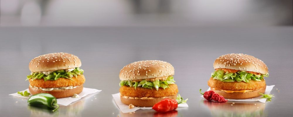 McDonald's Brings Three Spicy McChicken Sandwiches to Canada