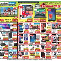 Factory Direct - Spectacular Spring Sale! Flyer