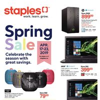 Staples - Weekly - Spring Sale Flyer