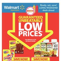 Walmart - Supercentre - Long Weekend Deals Ahead Flyer