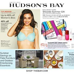 The Bay - Weekly - Seriously Hot Summer Savings Flyer