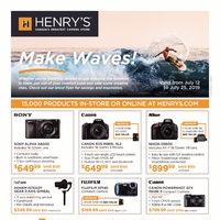 Henry's - Make Waves! Flyer