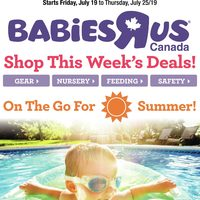Babies R Us - Weekly - On The Go For Summer! Flyer