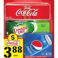 Coca-Cola, Canada Dry, Pepsi or 7up