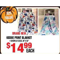 Brand New Kiddle Print Blanket