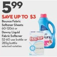 Bounce Fabric Softener Sheets Or Downy Liquid Fabric Softener