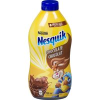 Nesquik Syrup or Carnation Hot Chocolate