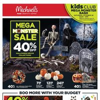 Michaels - Weekly - Mega Monster Sale Flyer