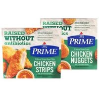 Maple Leaf Prime Naturally Frozen Chicken Strips or Nuggets