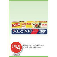 PC Non-Sitck Alcan Foil Or Glad Cling Wrap