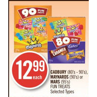 Cadbury, Maynards Or Mars Fun Treats