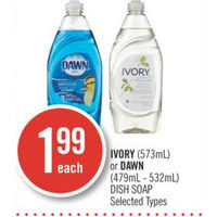 Ivory Or Dawn Dish Soap