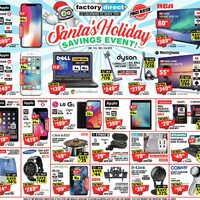 Factory Direct - Santa's Holiday Savings Event! Flyer