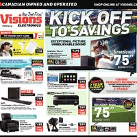 Visions Electronics - Weekly - Kick Off To Savings Flyer
