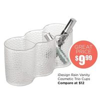 iDesign Rain Vanity Cosmetic Trio Cups