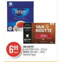 Van Houtte K-Cup Pods Or Tetley Tea