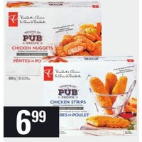 PC Breaded Chicken Strips, Nuggets or Burgers