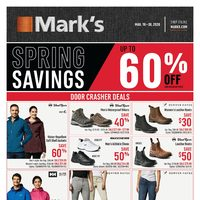 Mark's - Spring Savings Flyer