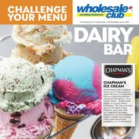 Wholesale Club - Challenge Your Menu - Dairy Bar Flyer