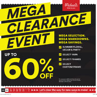 - Weekly - Mega Clearance Event Flyer