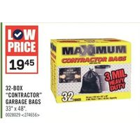 "32-Box ""Contractor"" Garbage Bags"