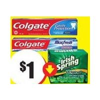 Colgate Toothpaste or Toothbrush, Irsih Spring Soap