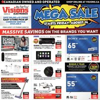 Visions Electronics - Weekly - Mega Sale Flyer