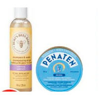 Penaten Diaper Rash Treatment or Burt's Bees Baby Toiletries