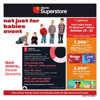 Atlantic Superstore - Not Just For Babies Event Flyer