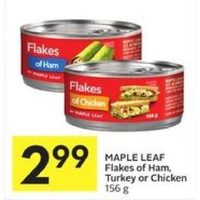Maple Leaf Flakes Of Ham, Turkey Or Chicken