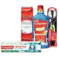 Colgate Sensitive Pro-Relief, Optic White or Zero Toothpaste, Mouthwash or Power or Toothbrushes