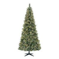 9' Sparkling Pre-Lit Quick Set Artificial Christmas Tree